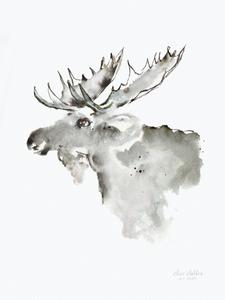 Bilde av Kunsttrykk Skogens konge - Elise Stalder